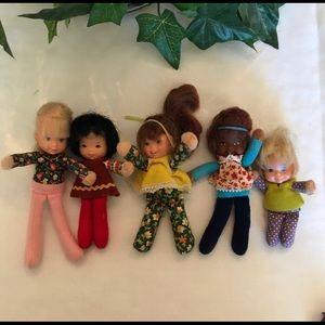 Mattel Vintage 1975 Honey Hill Bunch Dolls